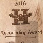 anna grone rebounding award highland high school varsity basketball
